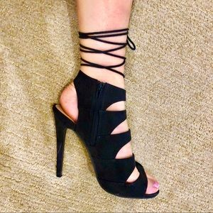 JustFab Lace-Up Heels